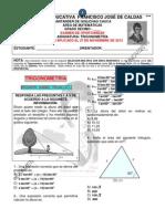 EXAMEN DE OPORTUNIDAD DÉCIMO Y UNDÉCIMO. CALDAS 27 DE NOV DE 2013