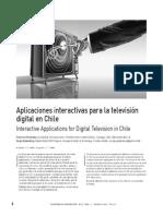 Aplicaciones interactivas para la televisión digital en Chile