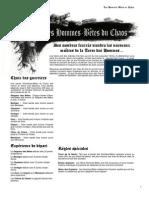 BANDE - LES HOMMES-BÊTES DU CHAOS 24-02-10
