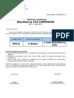 Surat Kontrak Gerilya Blackberry Z10 - Columbus Wonomulyo