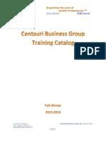 CBG course catalog