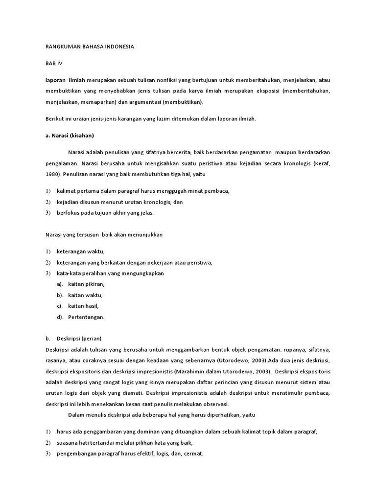 Bahasa Indonesia Laporan Ilmiah