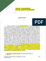 Liturgia y Eucarístía en Ratzinger - trabajo