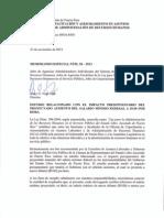 ME-38-2013 Impacto Presupuestario Salario Minimo