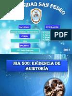 NIA 500, Evidencia de Auditoría