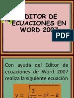 Editor de Ecuaciones de Word 2007