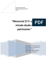 Memorial 27-F, Una Mirada Desde El Patrimonio