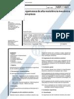 NBR 11801 - 1992 - Argamassa de Alta Resistência Mecânica para Pisos