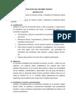 INSTRUCTIVO DE LA ESTRUCTURA DEL INFORME TÉCNICO