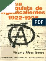 Prensa Anarquista de Aguascalientes 1922-1926 - Vicente Ribes Iborra