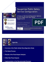 Saugerties Police Consolidation - Town of Saugerties Study of Service Configuration Options for the Village and Town Police Department