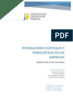 Integraciones Verticales y Horizontales en Las Empresas