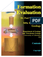 Formation Evaluation MSc Course Notes Paul Glover