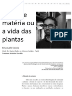Emanuele Coccia - Mente e Matéria ou a vida das plantas