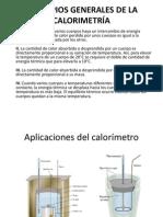 PRINCIPIOS GENERALES DE LA CALORIMETRÍA