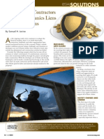 Protection for Contractors Through Mechanics Liens and Other Means from Modern Contractor Solutions July 2009