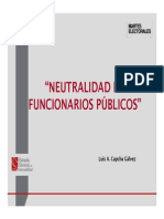 JNE Neutralidad de los funcionarios públicos