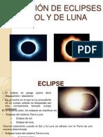 Formación de eclipses de sol y de luna