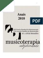 Anais XVI Fórum de Musicoterapia AMT-RJ 2010