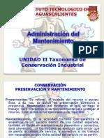 Unidad 2 Taxonomia de La Conservacion Industrial
