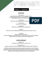 resume for eportfolio