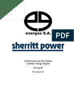 2009-08-14 - GT10 Load Gear Box Failure Report