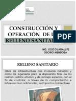 Construcción y Operación  de un Relleno Sanitario diente 06
