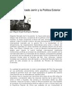 Edgardo Mercado Jarrín y la Política Exterior del Perú