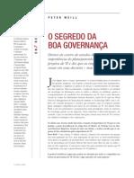 O Segredo da Boa Governança