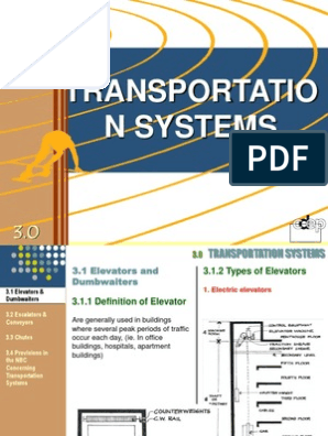 TRANSPORTATION SYSTEMS ppt | Escalator | Elevator