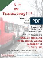 Albert= The New Transitway?