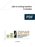 A Guide to Mining Taxation in Zambia