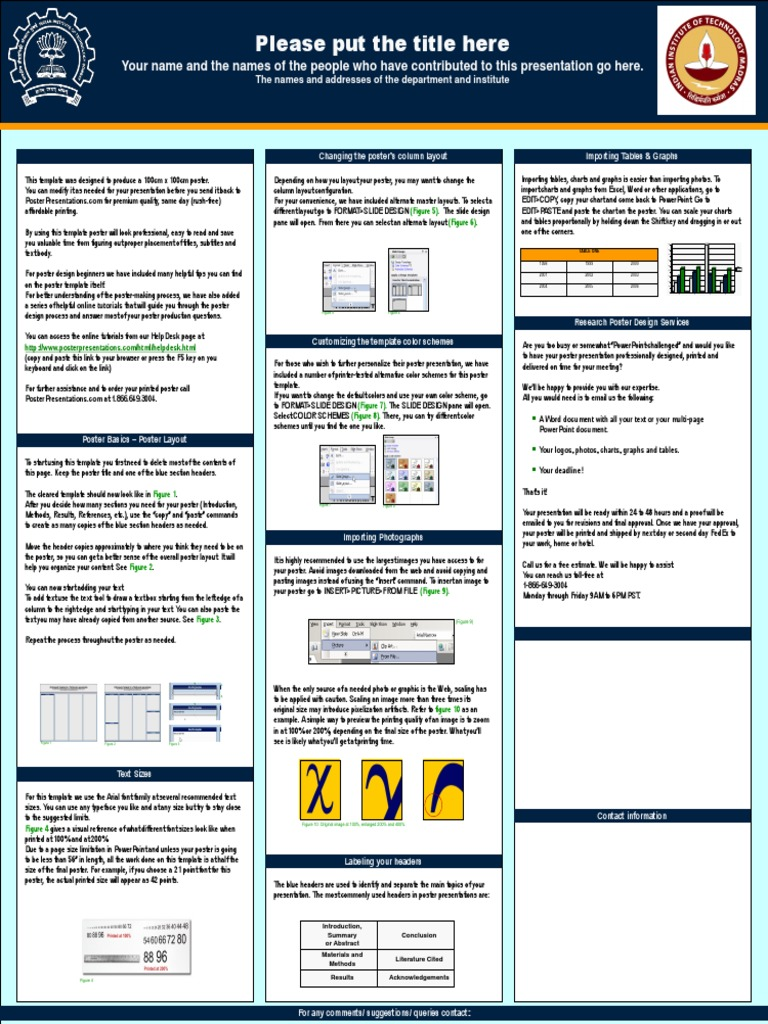pan iit research expo template | page layout | typefaces, Poster Presentation Template Iit, Presentation templates