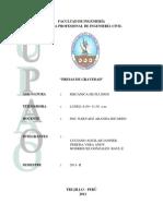 Presas de Gravedad - Informe