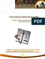 Evolucion Del Marco Regulatorio