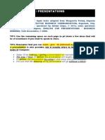TASK SHEET D8 – PRESENTATIONS - class use