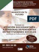 CARTEL Atencion Sociosanitaria a Personas Dependientes en Instituciones Sociales