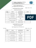 Jadwal Pertandingan Final Untuk Tunggal, Ganda Dan Beregu Jumat, 29-11-13