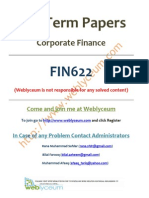 FIN622 - Mid Term Past Papers (Including Spring 2010)