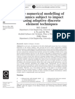 The Numerical Modelling of Ceramics Subject to Impact Using Adaptive Discrete Element Techniques