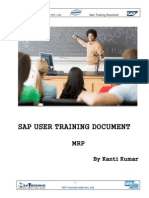 User Training Document