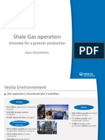 "Presentation ""Shale Gas Operation. Innovate for a Greener Production"" by Veolia"
