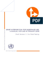 ASSIST Brief Intervention for Substance Use