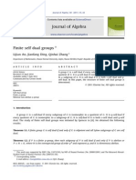 Finite Self Dual Groups (2011)