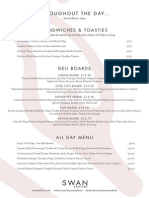 The Swan Salford All Day Menu Winter 2013