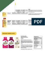 Energy Gel Nutrition Info