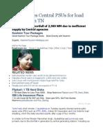 Jaya Blames Central PSUs for Load Shedding in TN