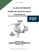 Manual Del Estudiante Para Primero de Bachillerato 2013-2014