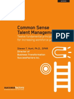 Common Sense Talent Management