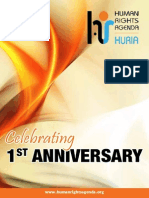 Huria Booklet-first Anniversary